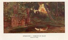 ANGKOR THOM TERASSE DU PALAIS IMAGE 1939 OLD PRINT