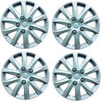 "Phoenix 15"" Car Wheel Trims Hub Caps Plastic Covers Silver Universal (4Pcs)"