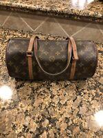 Authentic Louis Vuitton Papillon 26 Hand Bag Monogram Canvas Vintage SP1022