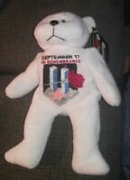 2002 Plushland White Bear September 11 In Remembrance w/Tags FREE SHIPPING