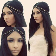 Boho Women Metal Rhinestone Head Chain Jewelry Headband Head Piece Hair band AE