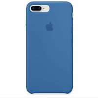 iPhone 8 / 7 PLUS Apple Original Echt Silikon Schutz Hülle - Denim Blau