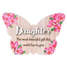 Daughter is the most beautiful gift colourful butterfly plaque gift 283755