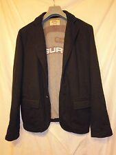 GURU giacca TG L colore nero in felpa foderata logo in vista, bottoni logati