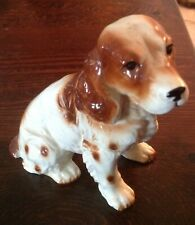 Vintage Enesco Japan Cocker Spaniel Dog Figurine - Sitting - Tag Intact - Sweet