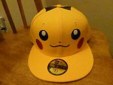 Pikachu Beams  New Era 7 1/2 Japan Exclusive Pokemon 59Fifty Fitted Hat Cap Rare