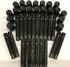 20 X M14X1.5 Aleación Pernos de rueda + tuerca De Conversión Negro 75 mm AUDI 5X100 M14X15571