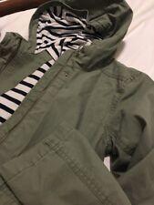 NWT Gap Kids Girls Military Army Green Jacket with Hood, XXL