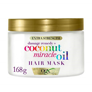 OGX Coconut Miracle Oil Hair Mask for Damaged Hair, Extra Strength, 168 g