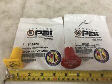 MV3 Yellow & Red Valve Parking Brake Knob PAI Brand. Ref. # Bendix 298818 298817