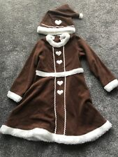 Girls H&M Gingerbread Elf Xmas Fancy Dress Dressing Up Costume Age 6-7-8 Years