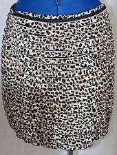 Calvin Klein Short Skirt 8 Cheetah Animal Print Ruffled Tiered Stretch Mini Line