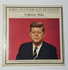 JOHN FITZGERALD KENNEDY JFK A MEMORIAL ALBUM LP RECORD
