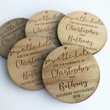 Save The Date Cards Magnets Personalised Wedding Invites Wooden Engraved Heart