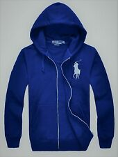 New NWT Mens Ralph Lauren Polo Big Pony Hoody Hooded Fleece Jacket Medium
