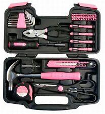 39 Piece Tool Set Kit Box Pink. Women Ladies Girls Female Hammer Pliers Scissors