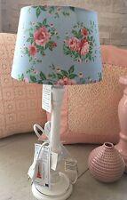 Tischlampe Lampenschirm Rosen Romantik Landhaus Shabby Stoff Vintage Chic