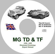 MG TD & TF Factory Workshop Service Repair Manual - 1950 - 1955 Models.