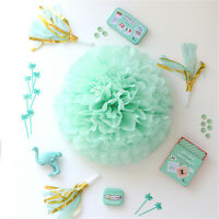 Mint / mint green  color tissue paper Pom Pom - party wedding handmade pom poms