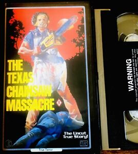 Rare Vhs Horror Texas Chainsaw Massacre KTel/Force Uncut