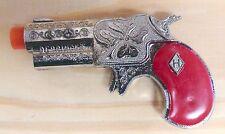 VINTAGE 1960s LESLIE HENRY RED GRIPPED Paladin, Maverick DERRINGER TOY CAP GUN