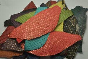 2pcs Real Fish Leather Carp Leather Fabric Soft Carp Fish Skin Leather Pelt Hide
