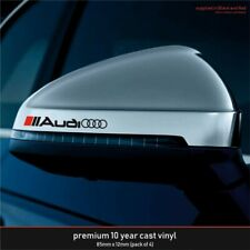 Audi Premium 10 Year Cast Vinyl Decals Stickers x 4 - many colours available