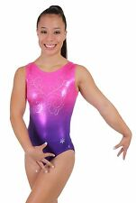 NEW!! Ombre Gymnastics Leotard by Snowflake Designs - Blue, Lavender, or Pink