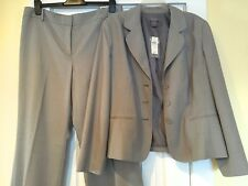 Ann Taylor Light Gray Pantsuit Jacket 18 & Signature Fit Pants 14 NEW NWT Sharp!