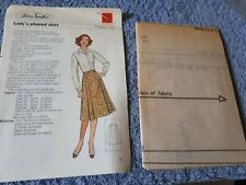 Vintage 1970s Silver Needles sewing pattern No: 44 Lady's pleated skirt uncut