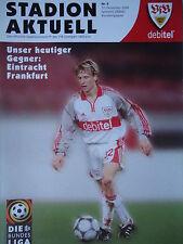 Programm 2000/01 VfB Stuttgart - Eintracht Frankfurt