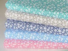 polycotton fat quarter bundle craft fabric children baby floral aqua grey navy D