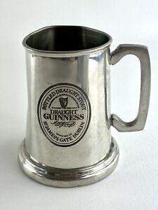 Vtg Arthur Guinness Signature Irish Pewtermill Beer Mug IP w/ Glass Bottom