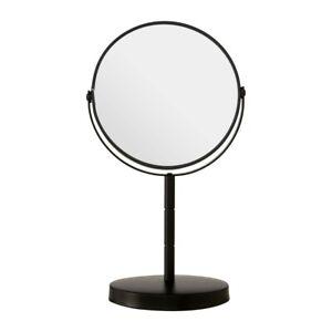 Swivel Table Mirror Metal Frame 2 x Magnifying Bathroom Shaving Make Up Unit New