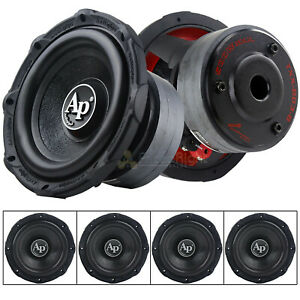 """4 Pack Audiopipe 8"""" Subwoofers 500 Watts Max Single 4 Ohm Triple Stack"""