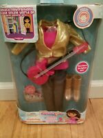 "NIB Dora the Explorer Girls NEW Charity Concert 14"" Doll Outfit guitar boots"