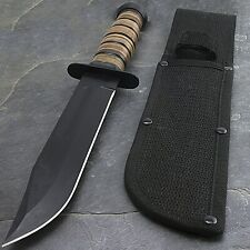 "12"" USMC MARINES TACTICAL MILITARY FIXED BLADE KNIFE Survival Hunting WWII"