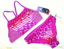 ✿ SPEEDO Electric Purple Girls size 14 Swimsuit 2 Piece Set No Wedgie NEW! L@@K!
