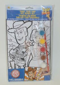 TOY STORY PAINT ART BOARD SET BRUSH BEGINNER KIDS KIT BOYS GIRLS WOODY BO PEEP
