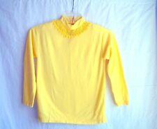 "1960s vintage birght yellow top/shirt lace trim, sz. XS, 32"" chest, Halloween??"