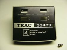 TEAC A-3340S 4 CHANNEL TAPE HEADCOVER TAPE HEAD COVER GUARD PIECE REEL TO REEL