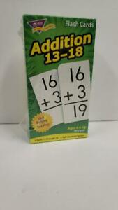 Learning Flash Cards Addition 13 to 18 Self-Checking Design By Trend Enterprises