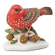 Lenox 2016 Strawberry Finch Bird Figurine Annual Garden Christmas Gift Coa New