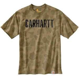Carhartt Herren T-Shirt Workwear Camo Block Logo