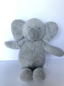 """Carters Precious Firsts 9"""" Gray Elephant Baby Rattle 2017 Plush New No Tags"""