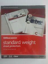 Office Depot Standard Weight Sheet Protectors 8 12 X 11 Clear 200 Pack