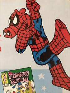 Spider Ham Ewoks Strawberry Shortcake 80s Comic Promo Poster Rare Collectible