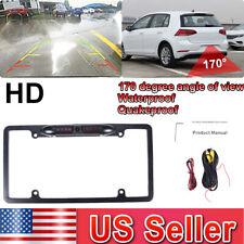 Car Rear View Reverse Backup Parking Camera Night Vision US License Plate Frame