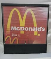 mcdonalds sign super size plastic  Flickering change when its moves