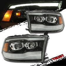 [Dual}2009-2018 Dodge Ram 1500/2500/3500 Black LED DRL Projector Headlights G2